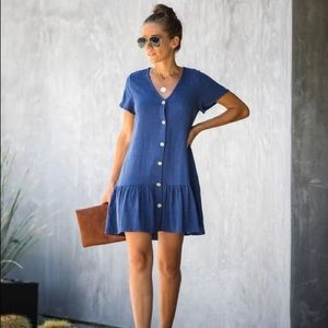 Vici collection babydoll button down dress